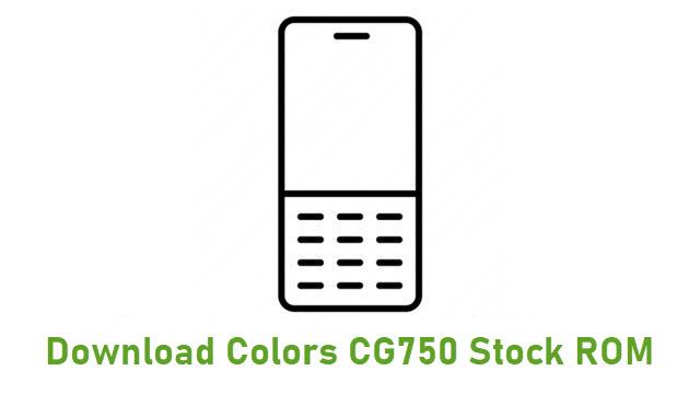 Download Colors CG750 Stock ROM