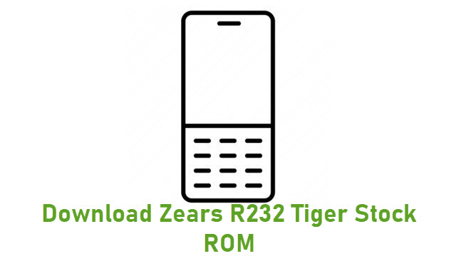 Download Zears R232 Tiger Stock ROM